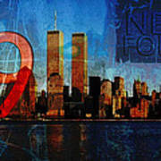 911 Never Forget Print by Anita Burgermeister