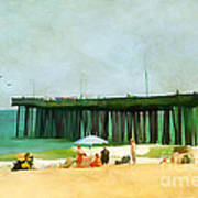 A Day At The Beach Print by Darren Fisher