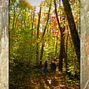 A Fall Walk With My Best Friend Print by Sandi OReilly