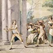 A Game Of Blind Mans Buff, C.late C18th Print by George Morland