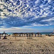 a good morning from Jerusalem beach  Print by Ron Shoshani