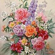 A High Summer Bouquet Print by Albert Williams