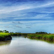 A Marsh At Jekyll Island Print by Greg and Chrystal Mimbs