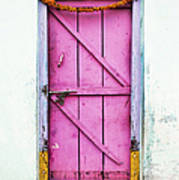 A Pink Door Print by Tim Gainey