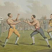 A Prize Fight Aquatinted By I Clark Print by Henry Thomas Alken