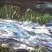 A River Runs Through Print by Sherry Harradence