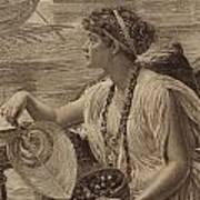 A Roman Boat Race Print by English School