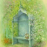 A Seat In The Garden Print by Garry Walton
