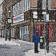 A Snowy Day On Wellington Print by Reb Frost