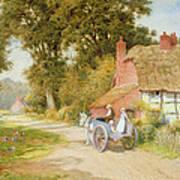 A Warwickshire Lane Print by Arthur Claude Strachan