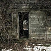 Abandoned House - Enter House On The Hill Print by Gary Heller