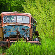 Abandoned Truck In Rural Michigan Print by Adam Romanowicz