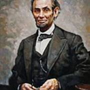 Abraham Lincoln Print by Ylli Haruni