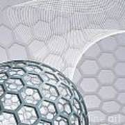 Abstract Background With Buckyball Print by Christos Georghiou