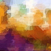 Abstract Cityscape Cubic Print by Lutz Baar