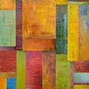 Abstract Color Study Collage L Print by Michelle Calkins