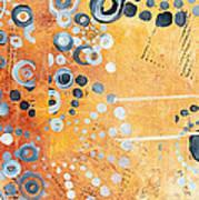 Abstract Decorative Art Original Circles Trendy Painting By Madart Studios Print by Megan Duncanson