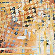 Abstract Decorative Art Original Diamond Checkers Trendy Painting By Madart Studios Print by Megan Duncanson
