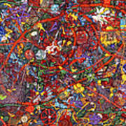 Abstract - Fabric Paint - Sanity Print by Mike Savad