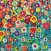 Abstract Garden Of Happiness Print by Ana Maria Edulescu