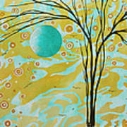 Abstract Landscape Painting Animal Print Pattern Moon And Tree By Madart Print by Megan Duncanson