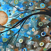 Abstract Original Landscape Art In A Trance Art By Madart Print by Megan Duncanson