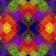 Abstract - Rainbow Connection - Panel - Panorama - Horizontal Print by Andee Design