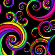 Abstract - Spirals - Inside A Clown Print by Mike Savad