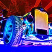 Acid Ford Hot Rod Print by Phil 'motography' Clark