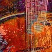 Acoustic Dreams Digital Guitar Art By Steven Langston Print by Steven Lebron Langston