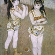 Acrobats At The Cirque Fernand Print by Pierre Auguste Renoir