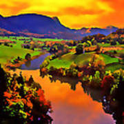 Across The Valley Print by Stephen Anderson