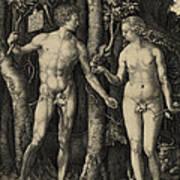 Adam And Eve In The Garden Of Eden - Albrecht Durer 1504 Print by Daniel Hagerman