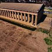 Aerial Photography Of The Parthenon Print by Dan Sproul