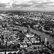 Aerial View Of London Print by Mark Rogan
