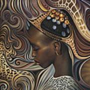 African Spirits II Print by Ricardo Chavez-Mendez