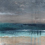 After The Storm- Abstract Beach Landscape Print by Linda Woods