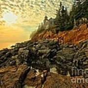 Afternoon At Bass Harbor Print by Adam Jewell
