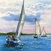 Afternoon Sail Print by Karol Wyckoff