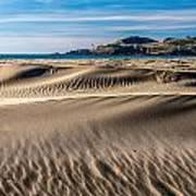 Agate Beach Dunes And Yaquina Head Light Print by Greg Stene