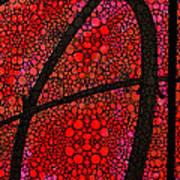 Ah - Red Stone Rock'd Art By Sharon Cummings Print by Sharon Cummings