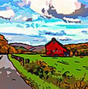 Ah...west Virginia Line Art Print by Steve Harrington
