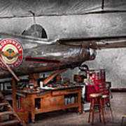 Airplane - The Repair Hanger  Print by Mike Savad