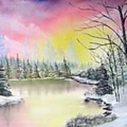 Alaskan Sunset Print by Kevin  Brown