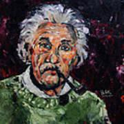 Albert Einstein Print by Becky Kim