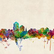 Albuquerque New Mexico Skyline Print by Michael Tompsett