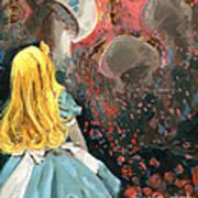 Alice In Mushroom Acres Print by Luis  Navarro