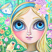 Alice In Pastel Land Print by Jaz Higgins