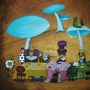 Alice In Wonderland Art - Mad Hatter's Tea Party I Print by Charlene Murray Zatloukal