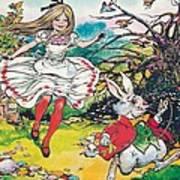 Alice In Wonderland Print by Jesus Blasco
